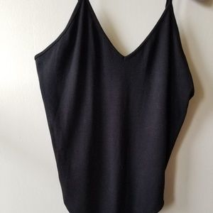 NWT BP Black Thong Body Suit with Spaghetti Straps